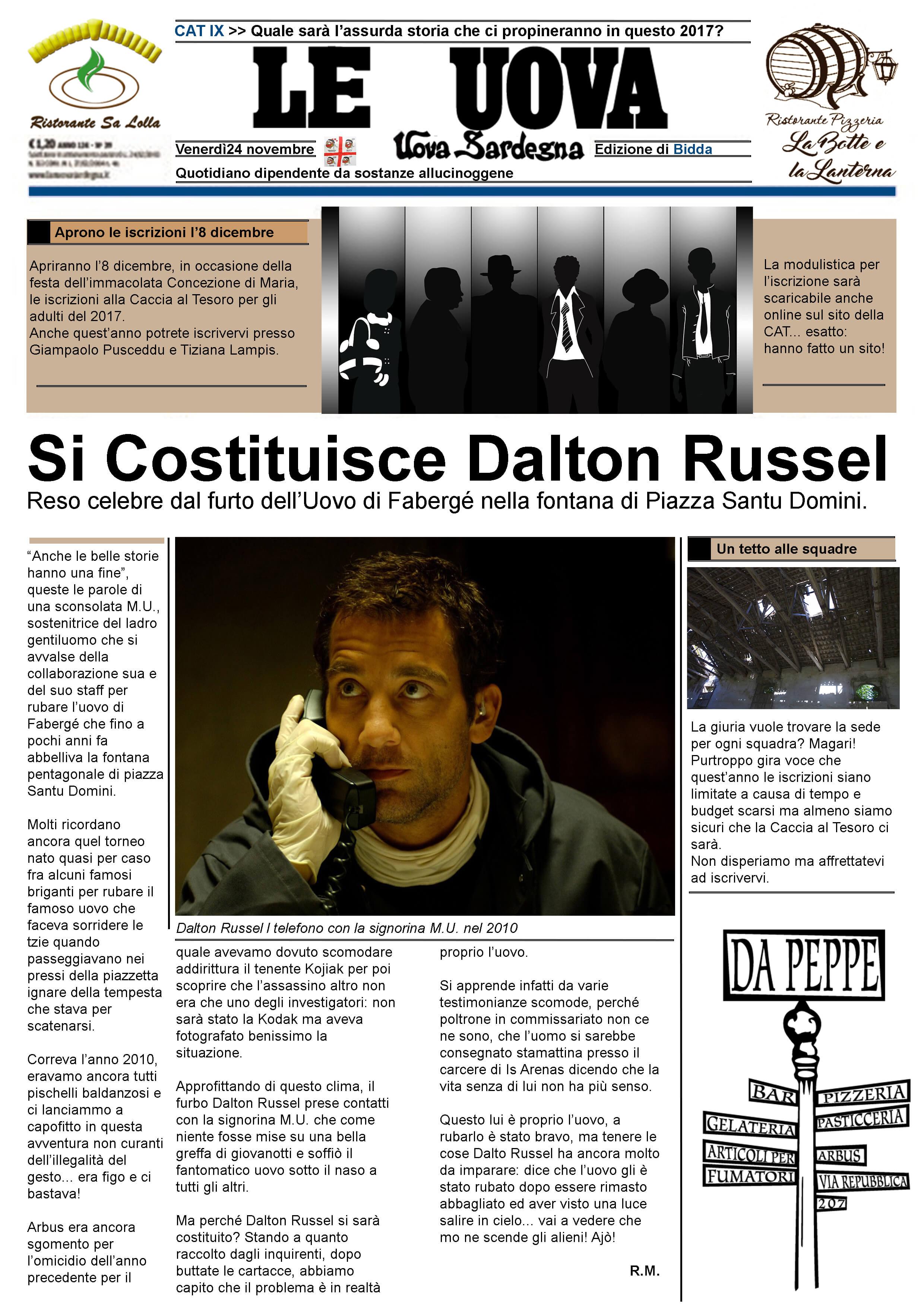 CAT III - Dalton Russel si costituisce